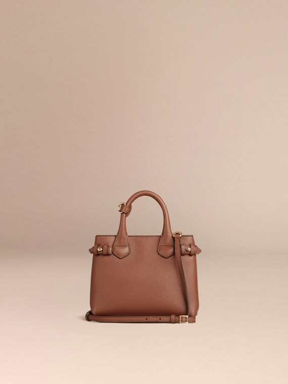 The Baby Banner in Leather and House Check in Tan - Women | Burberry - cell image 3