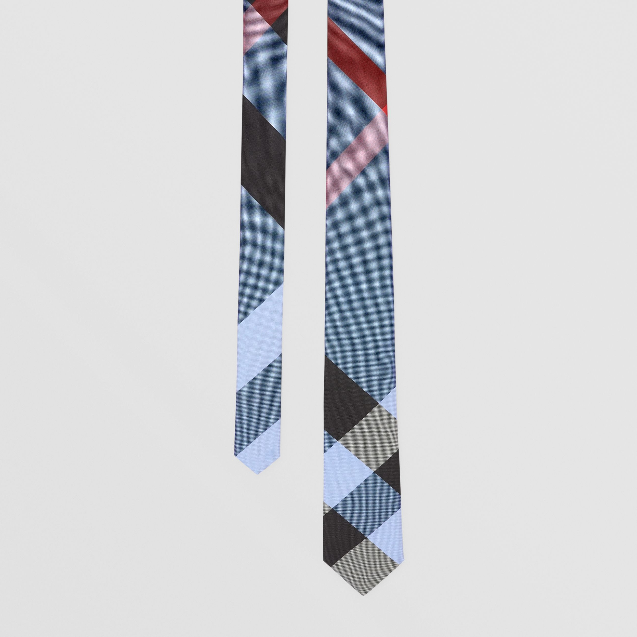 Classic Cut Check Silk Jacquard Tie in Bright Steel Blue - Men | Burberry - 1
