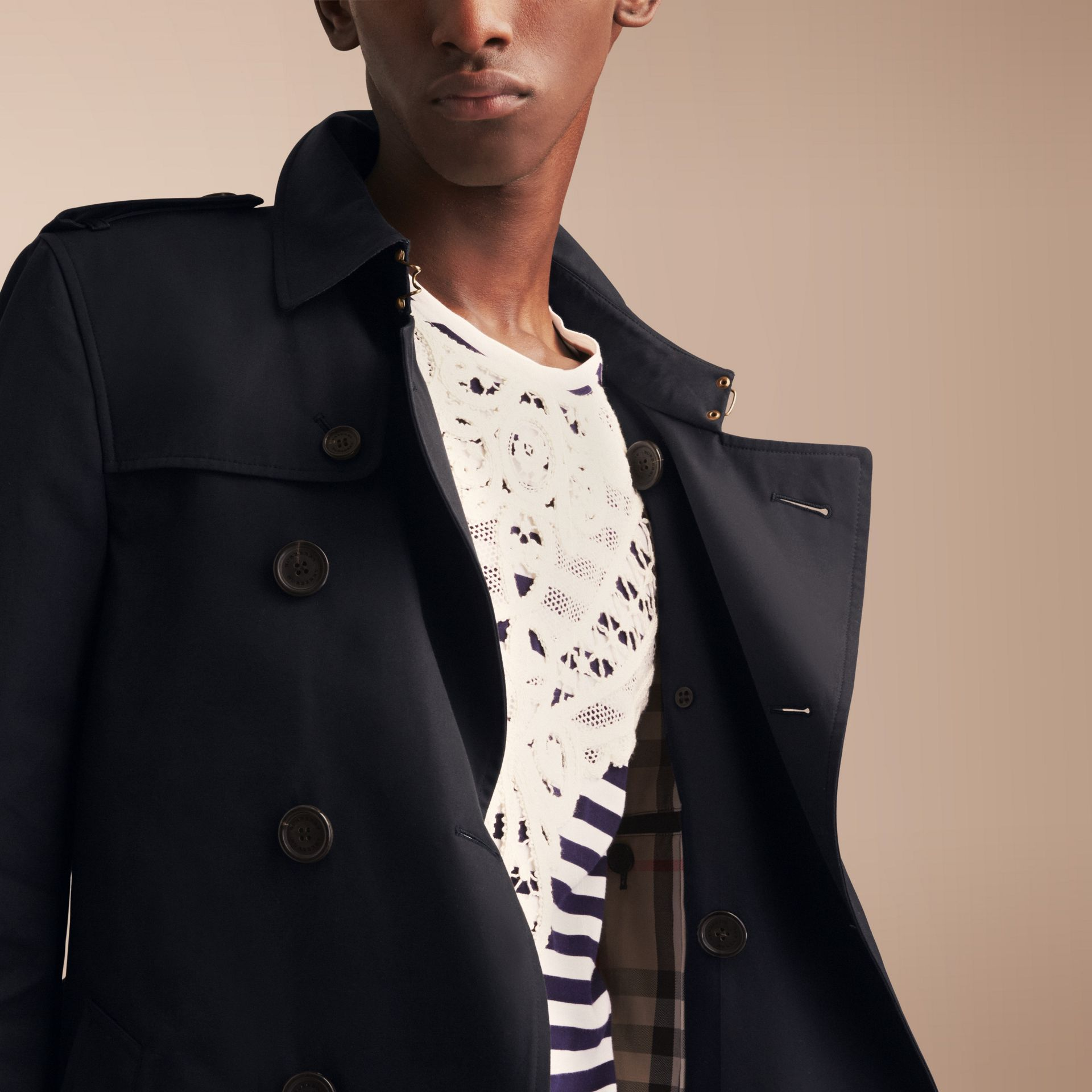 The Chelsea – Mid-length Heritage Trench Coat Navy - gallery image 5