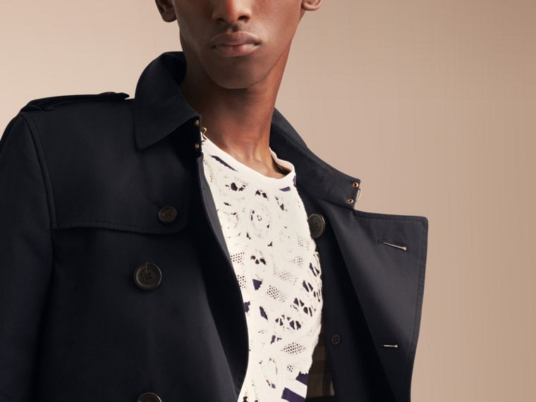 The Chelsea – Mid-length Heritage Trench Coat Navy - cell image 4