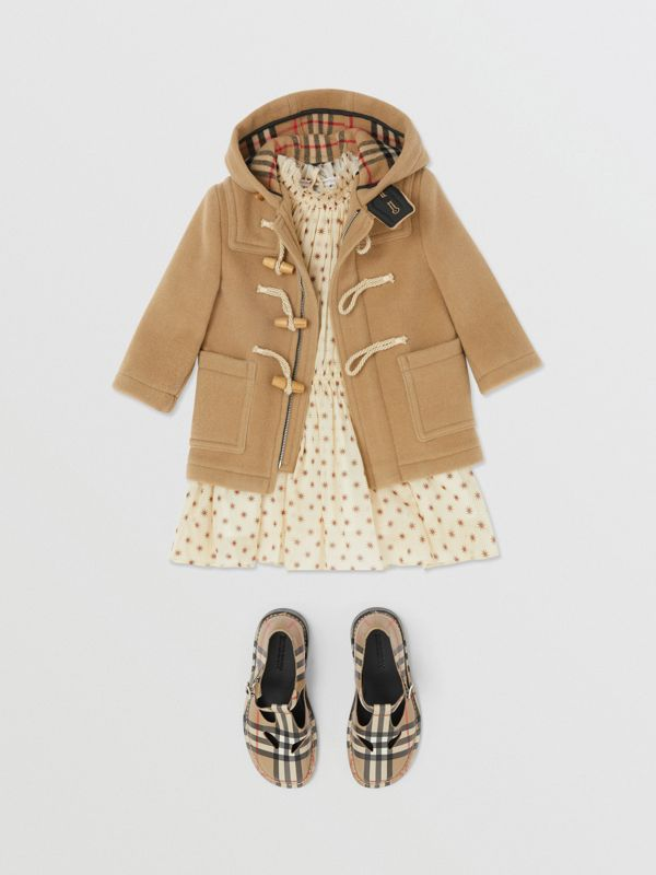 Boiled Wool Duffle Coat in Archive Beige - Children | Burberry Canada - cell image 2