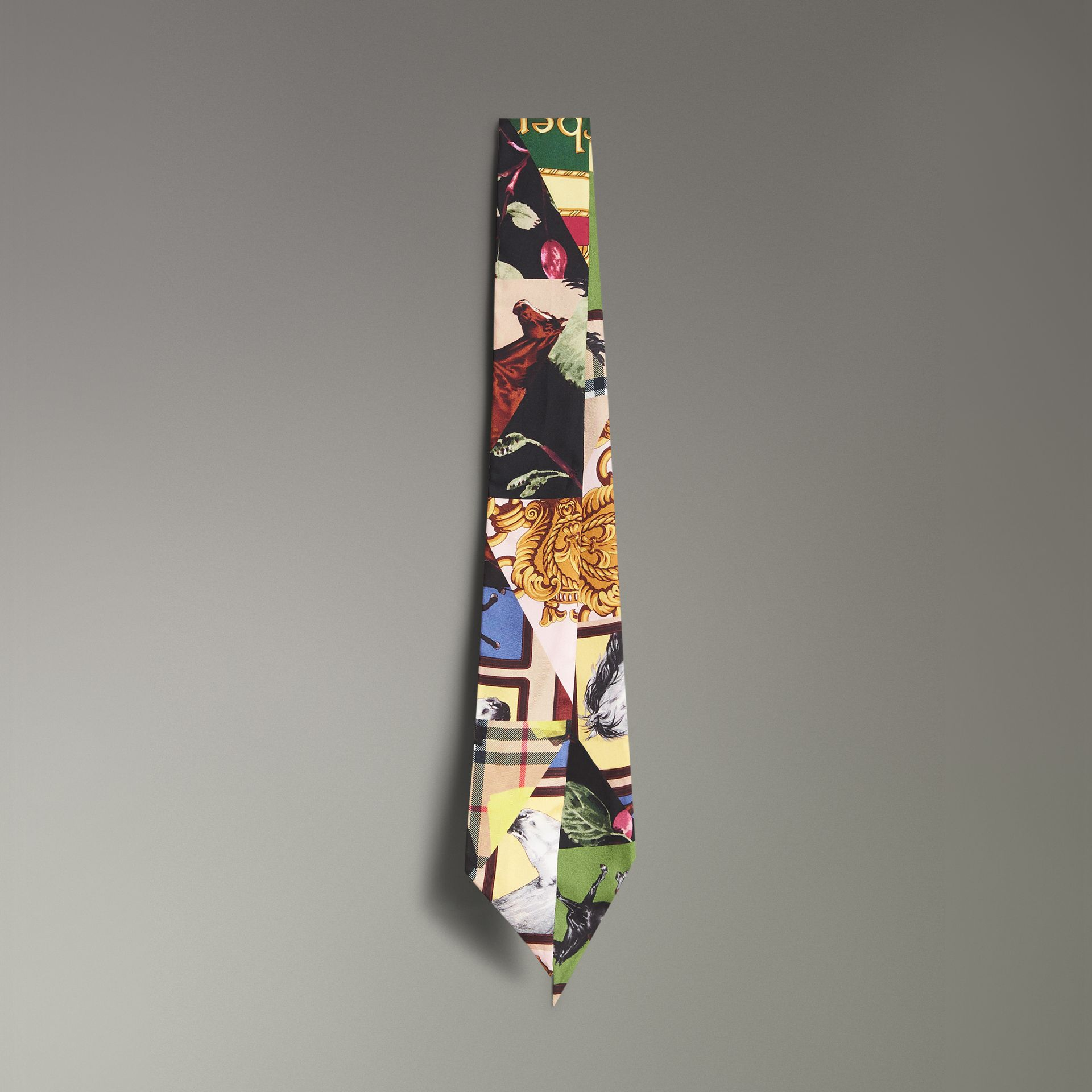 Archive Scarf Print Silk Slim Scarf in Multicolour - Women | Burberry United Kingdom - gallery image 0