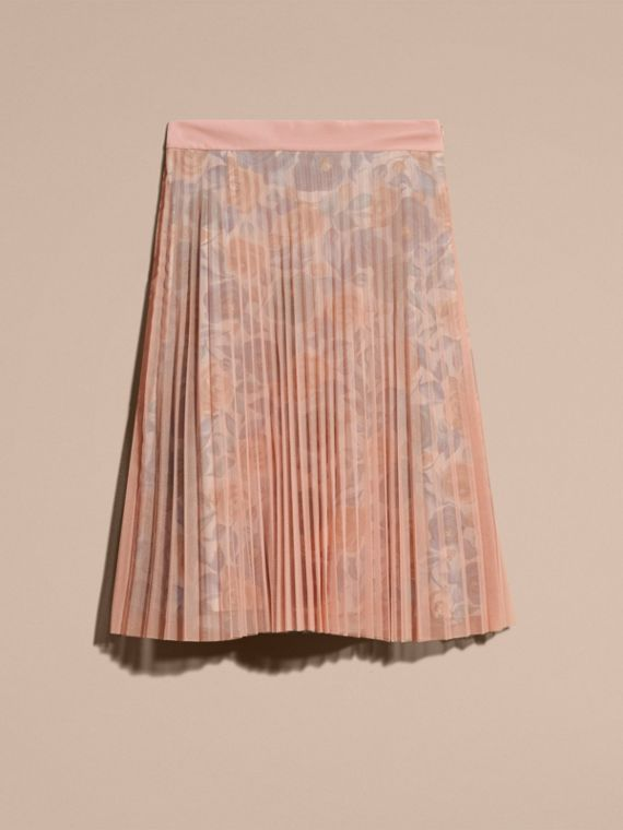 Watercolour Rose Print and Pleated Tulle Skirt in Pale - cell image 3