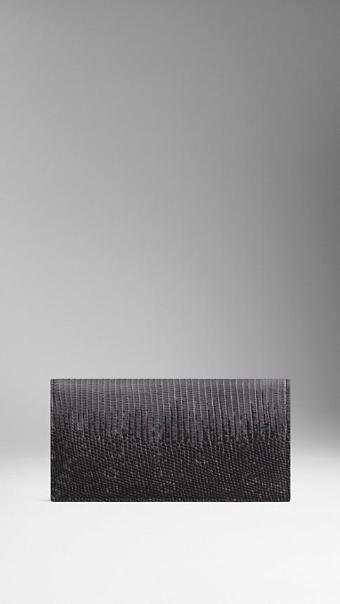 Mid grey melange Lizard Folding Wallet - Image 2
