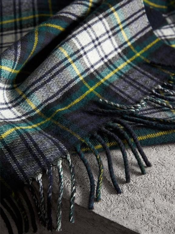 Cachecol de lã Merino com estampa xadrez (Azul Nanquim) | Burberry - cell image 1