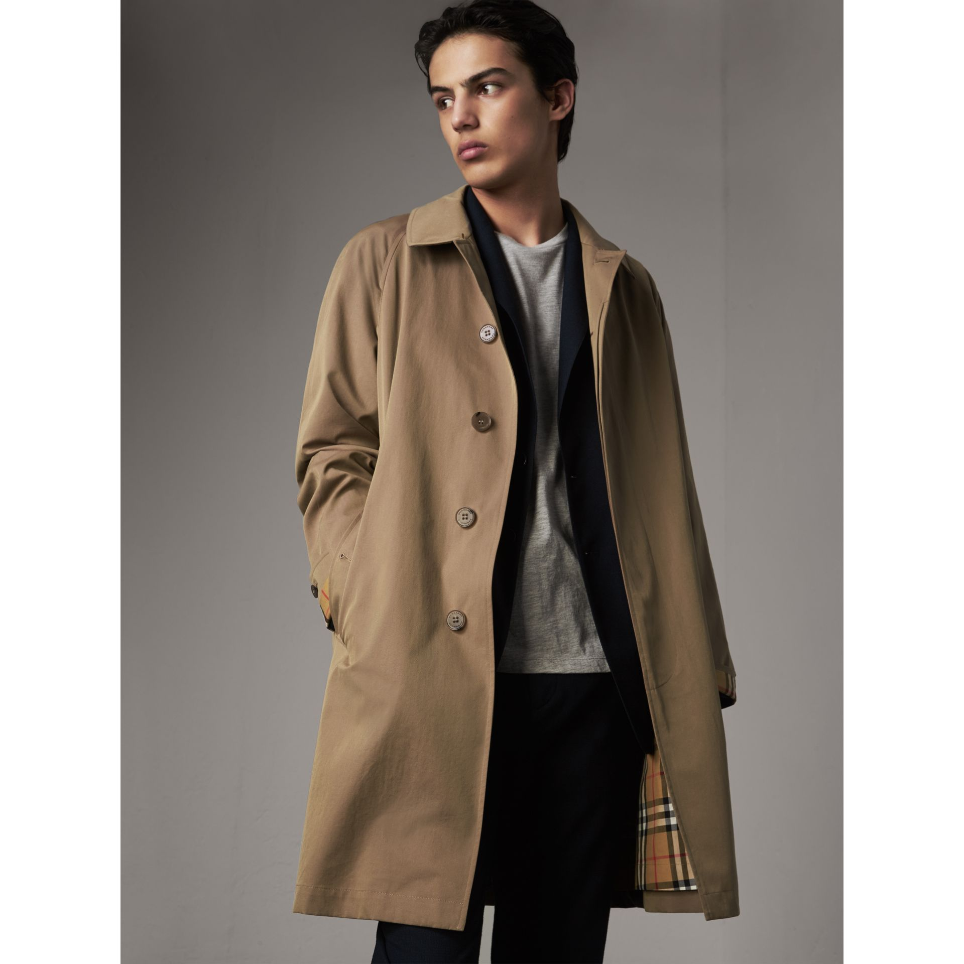 The Camden Car Coat in Taupe Brown - Men | Burberry United Kingdom - gallery image 5
