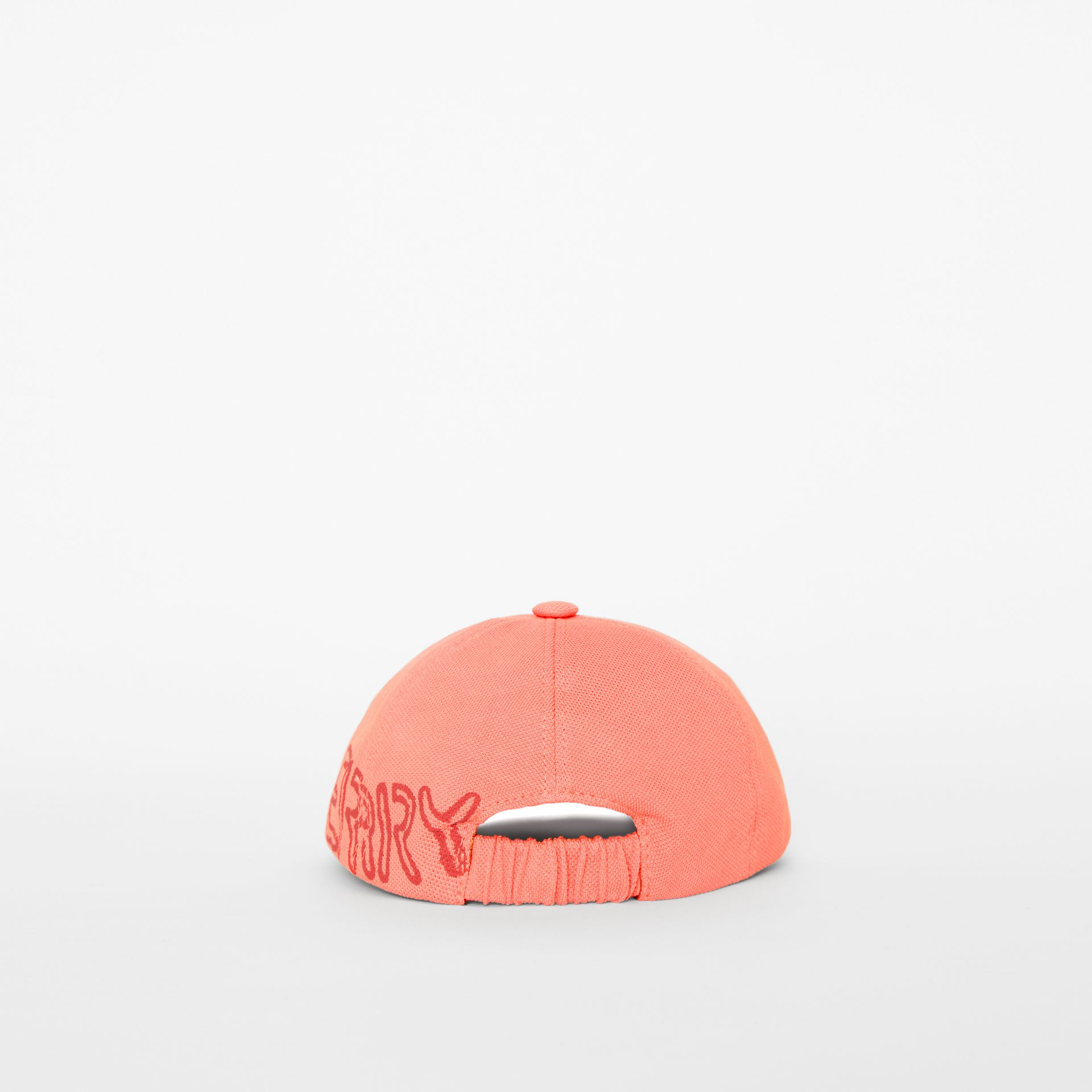Stencil Logo Print Baseball Cap in Bright Pink/bright Red - Children | Burberry Singapore - gallery image 2