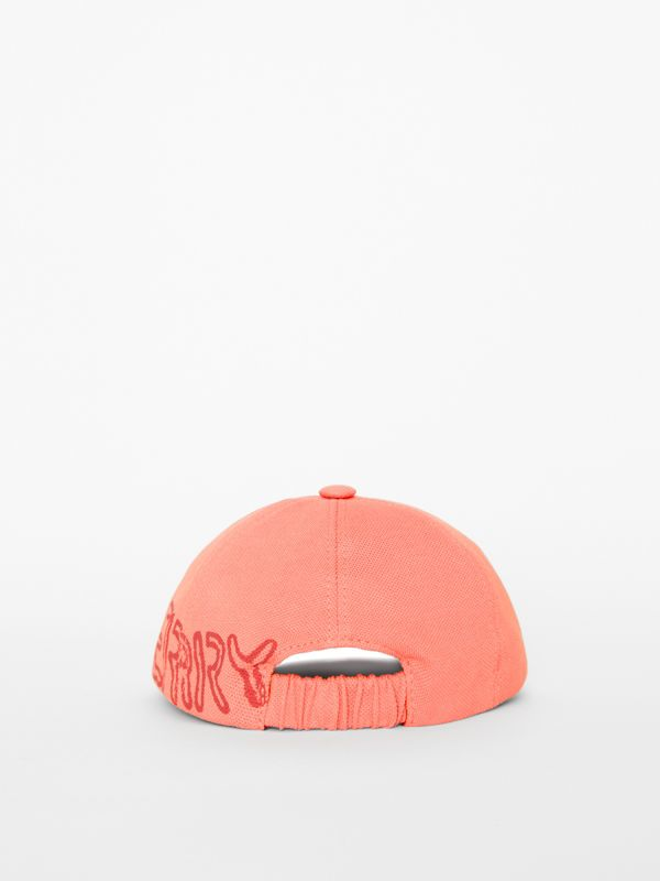 Stencil Logo Print Baseball Cap in Bright Pink/bright Red - Children | Burberry - cell image 2