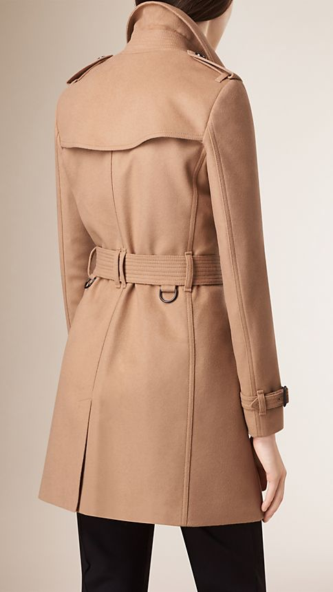 Camel Wool Cashmere Trench Coat - Image 5