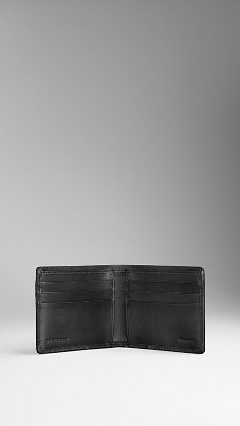 Black London Leather Folding Wallet - Image 3