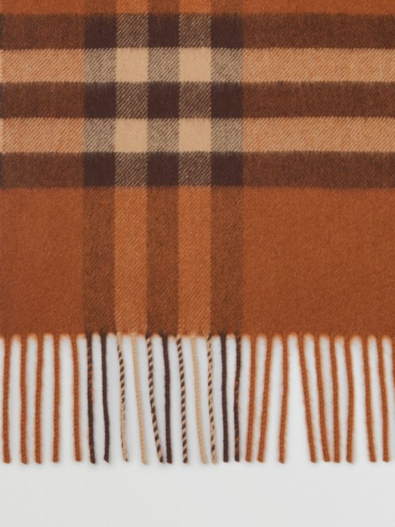 The Classic Check Cashmere Scarf in Chestnut | Burberry - cell image 1