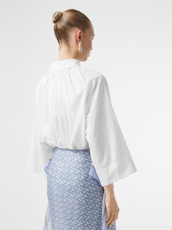 モノグラムコットン ジャカード オーバーサイズシャツ (オプティックホワイト) - ウィメンズ | バーバリー - cell image 2