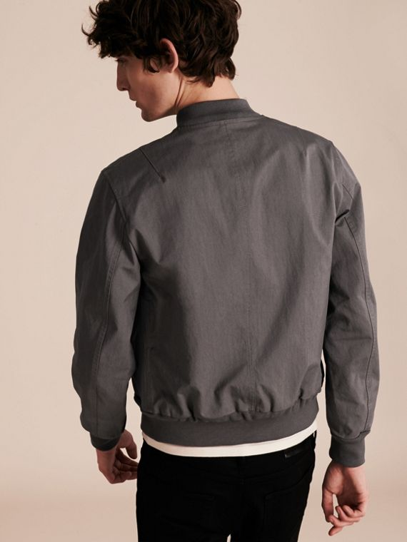 Airforce grey Matte Technical Cotton Bomber Jacket - cell image 2