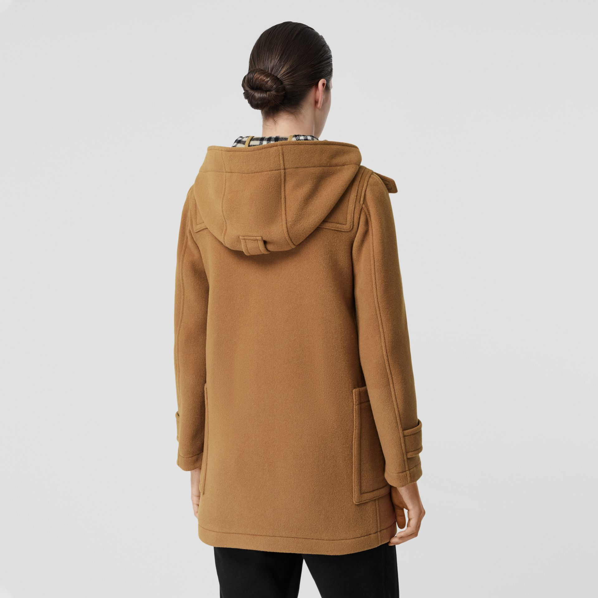 Wool Blend Duffle Coat in Mid Camel - Women | Burberry Australia - gallery image 1