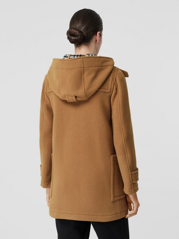 Wool Blend Duffle Coat in Mid Camel - Women | Burberry Australia - cell image 1