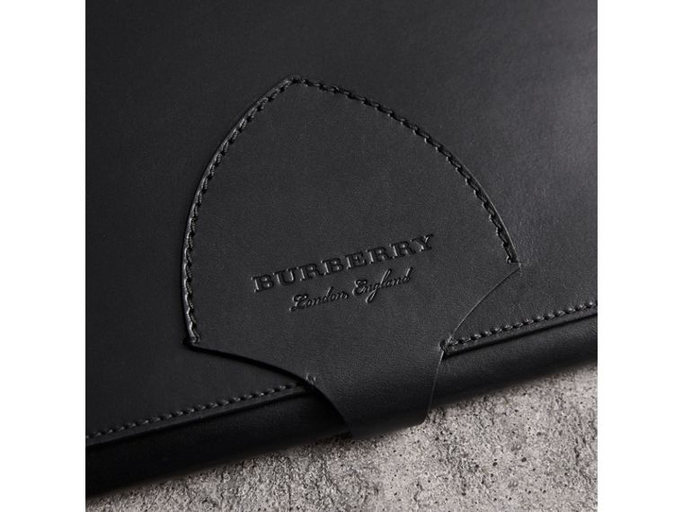 Equestrian Shield Leather A4 Document Case in Black | Burberry - cell image 1