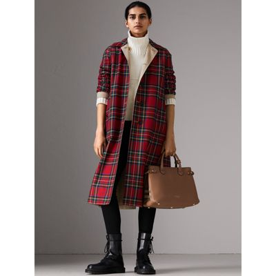 Burberry - Sac The Banner medium en cuir et coton House check - 3