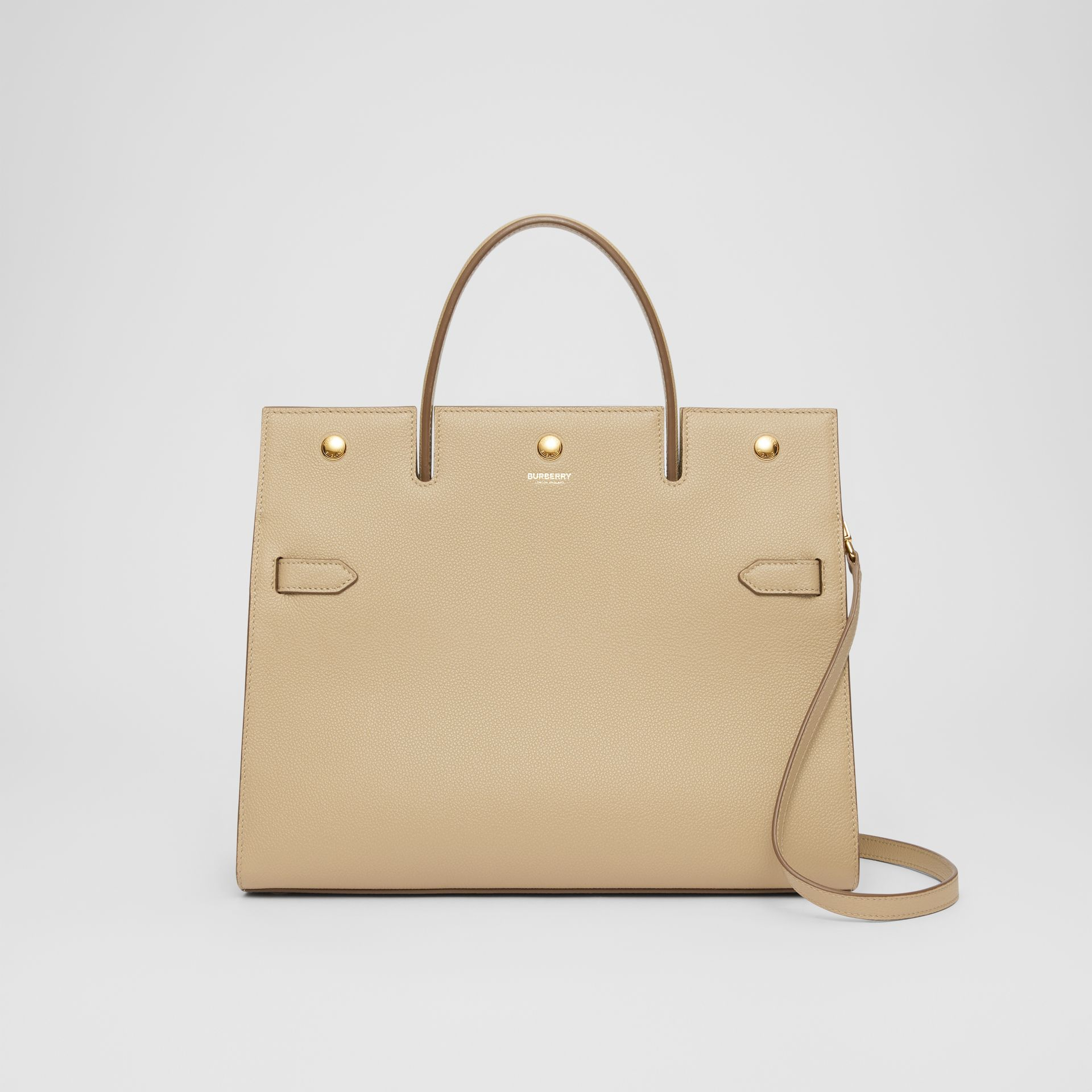 Medium Leather Title Bag in Honey - Women | Burberry United Kingdom - gallery image 0