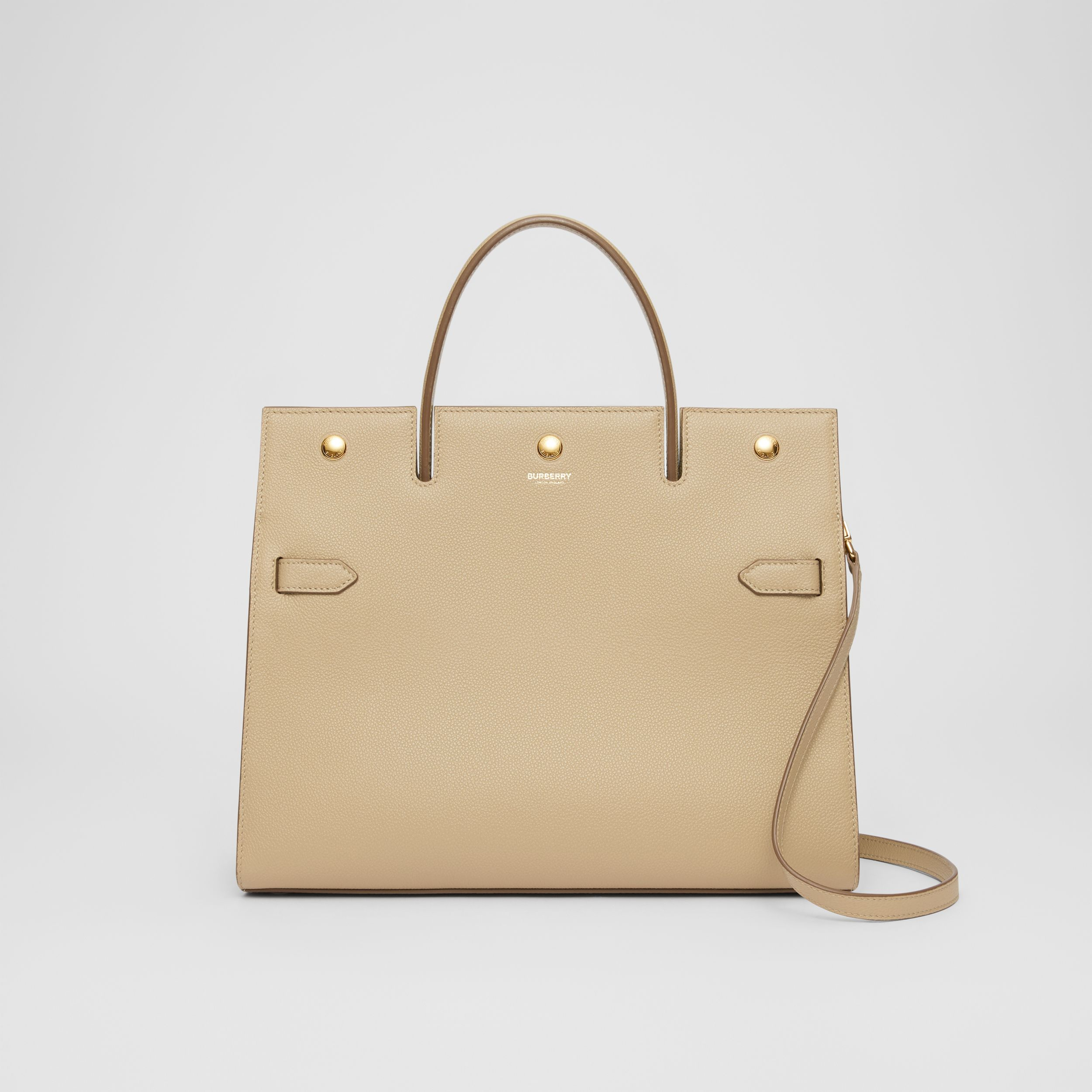 Medium Leather Title Bag in Honey - Women | Burberry - 1