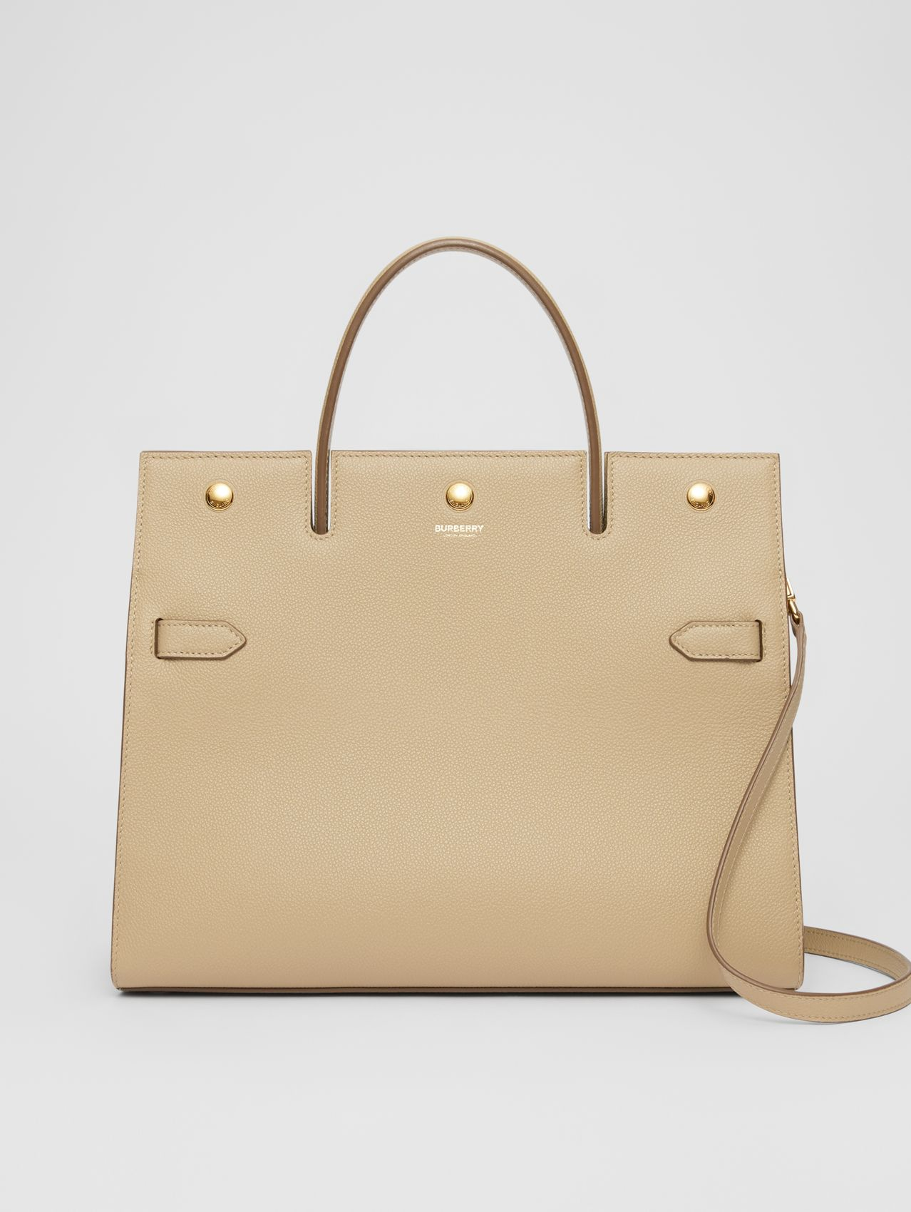 Medium Leather Title Bag (Honey)