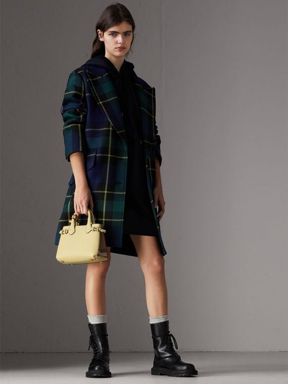 The Baby Banner in Leather and House Check in Camomile Yellow - Women | Burberry - cell image 2