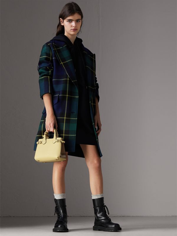 The Baby Banner in Leather and House Check in Camomile Yellow - Women | Burberry Australia - cell image 2