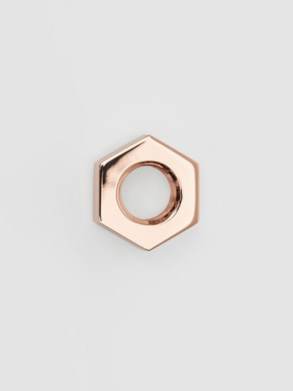 Rose Gold-plated Nut Earrings - Women | Burberry Singapore - cell image 1