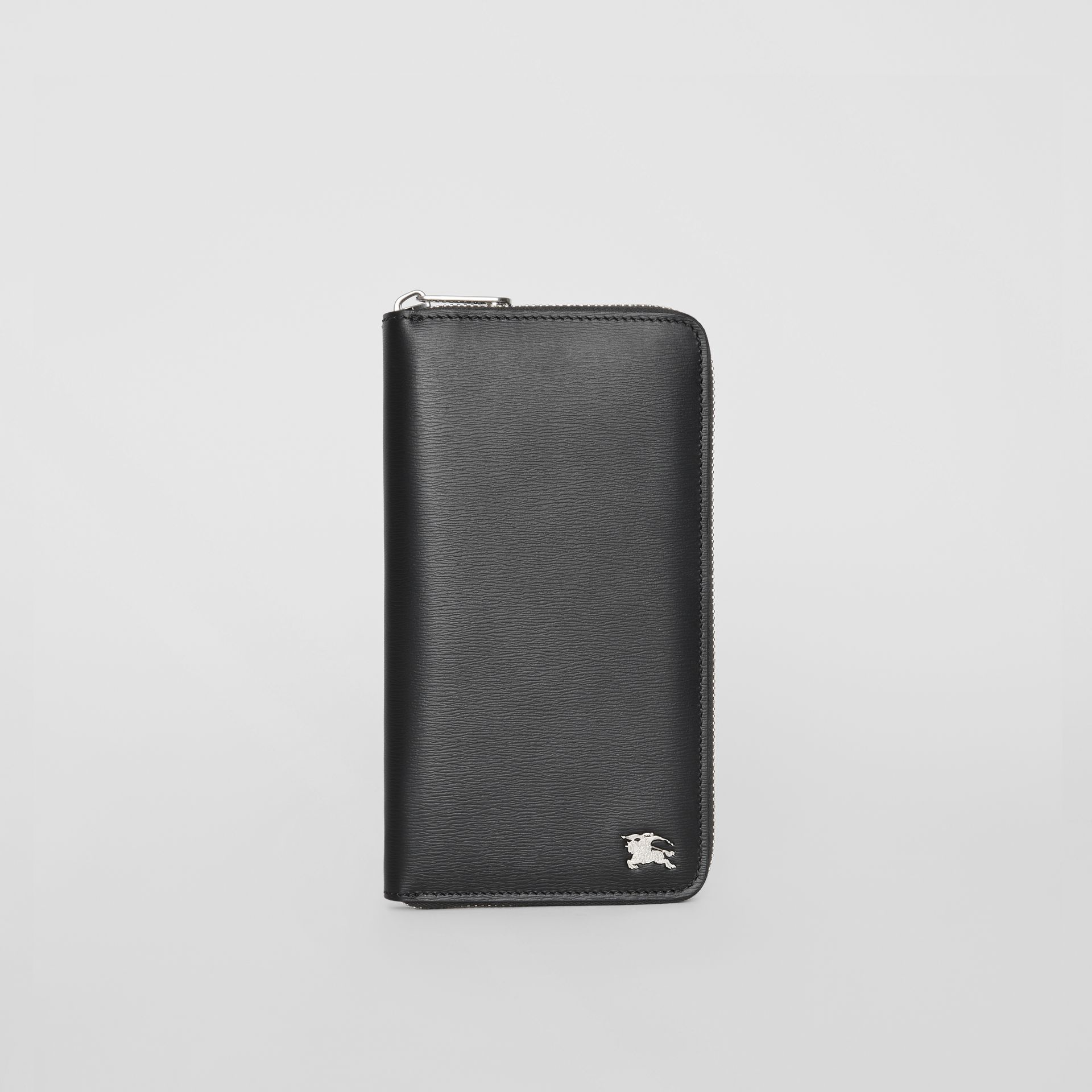 London Leather Ziparound Wallet in Black - Men | Burberry Singapore - gallery image 2