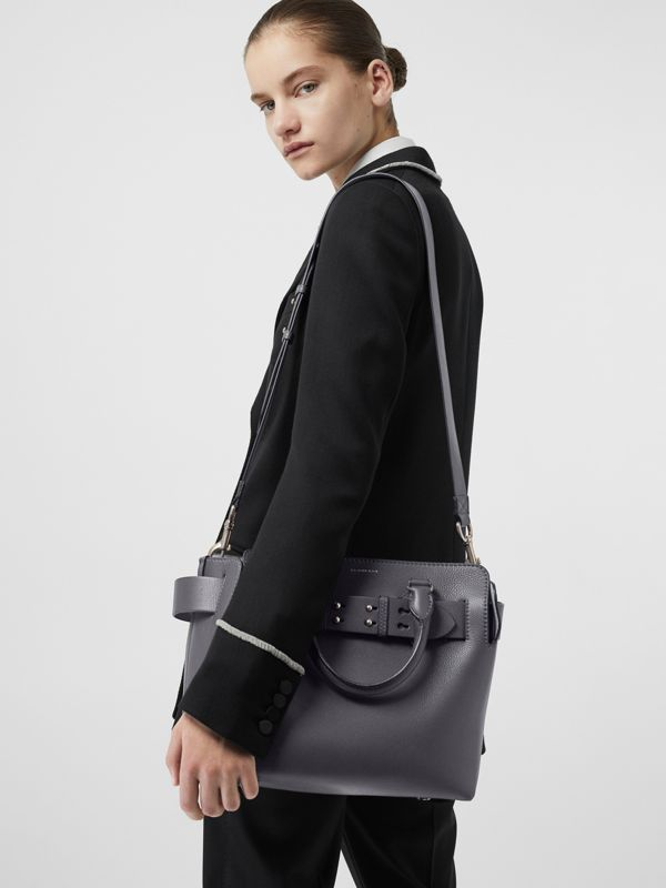 The Small Leather Belt Bag in Charcoal Grey - Women | Burberry - cell image 2