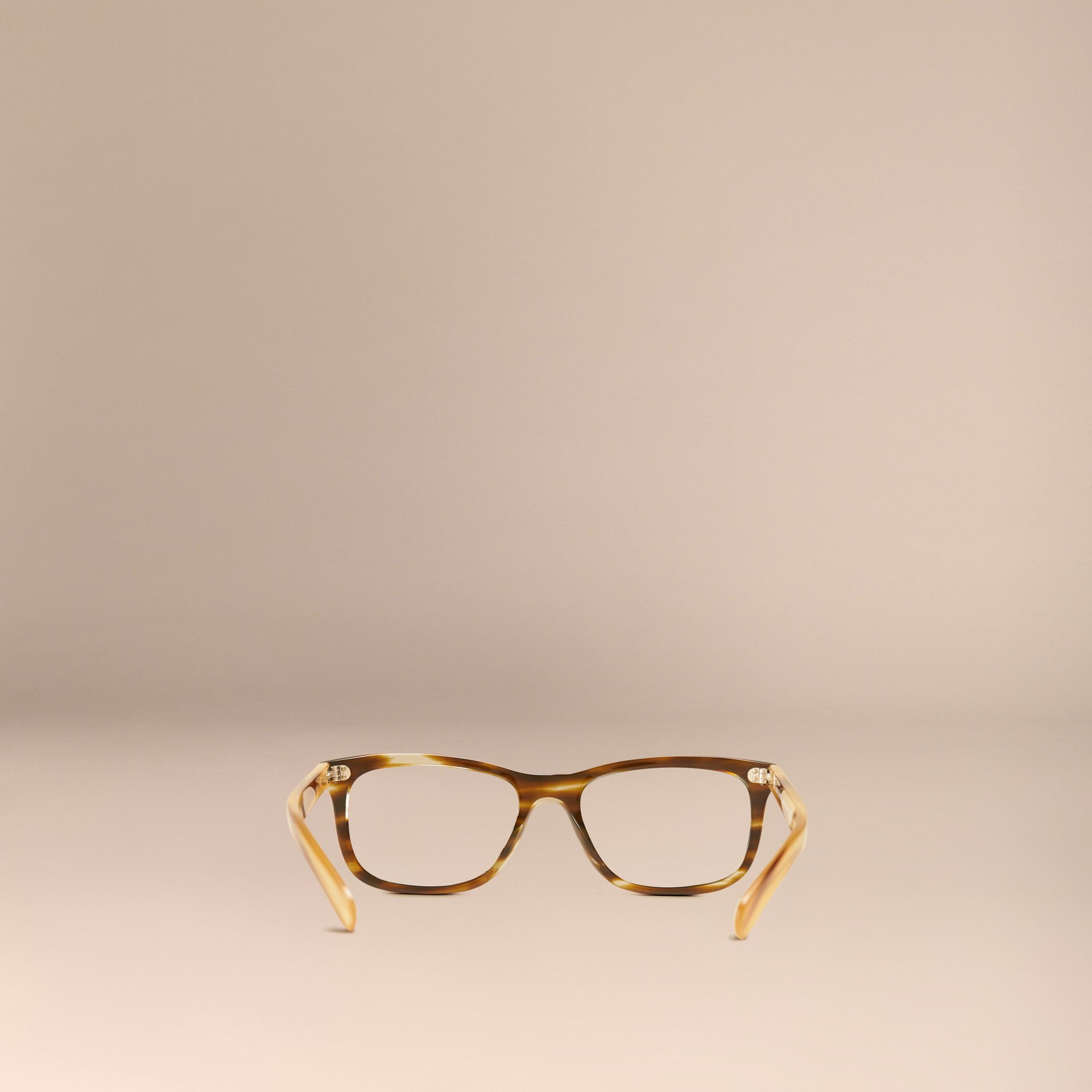 Square Optical Frames Dark Brown Horn - gallery image 3
