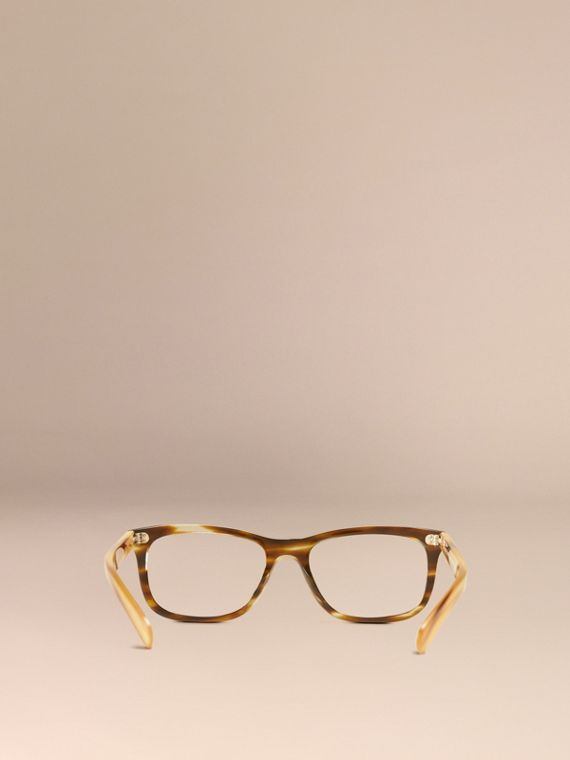 Square Optical Frames Dark Brown Horn - cell image 2