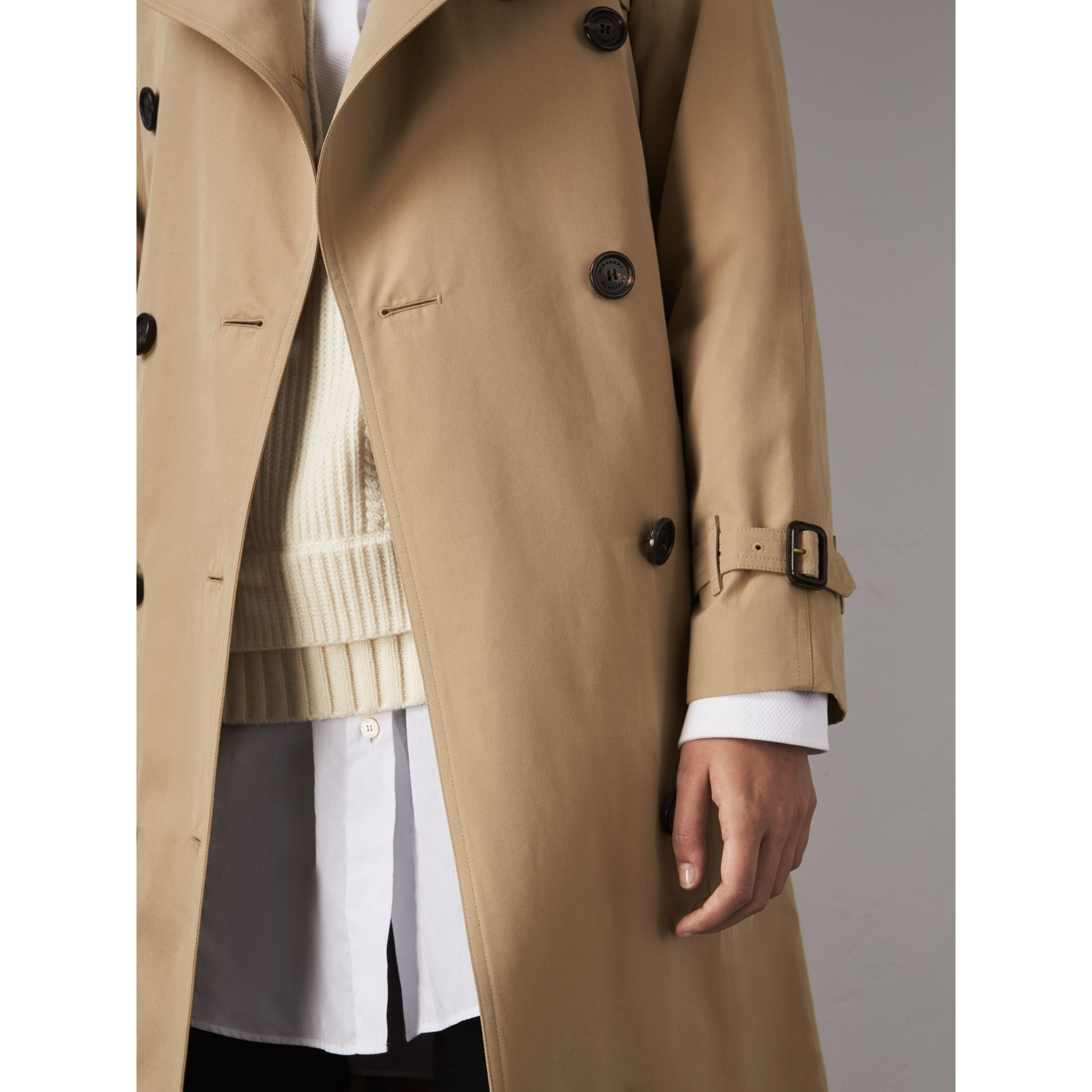 The Westminster – Extra-long Trench Coat in Honey - Women | Burberry - gallery image 6