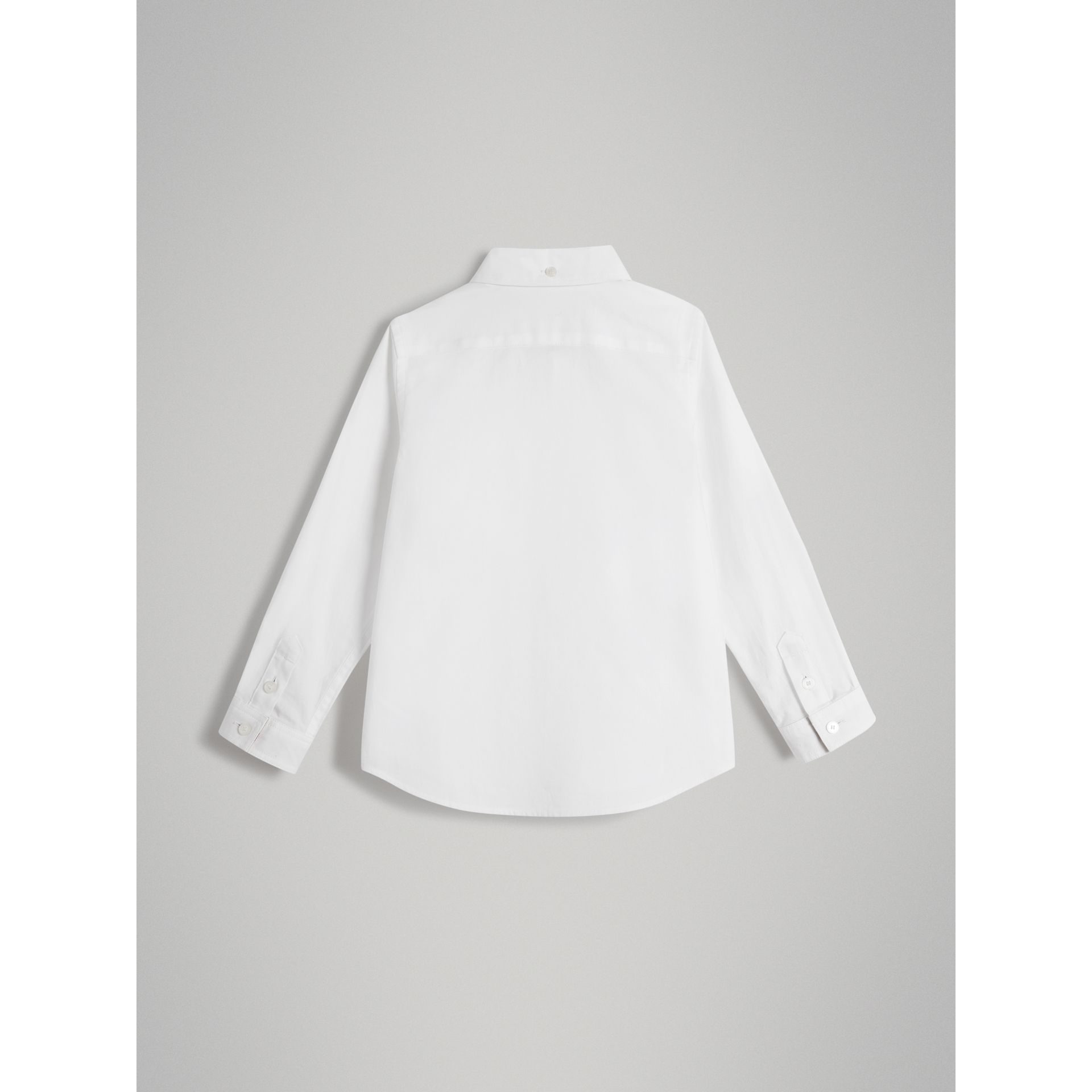 Cotton Button-down Collar Shirt in White - Boy | Burberry - gallery image 3