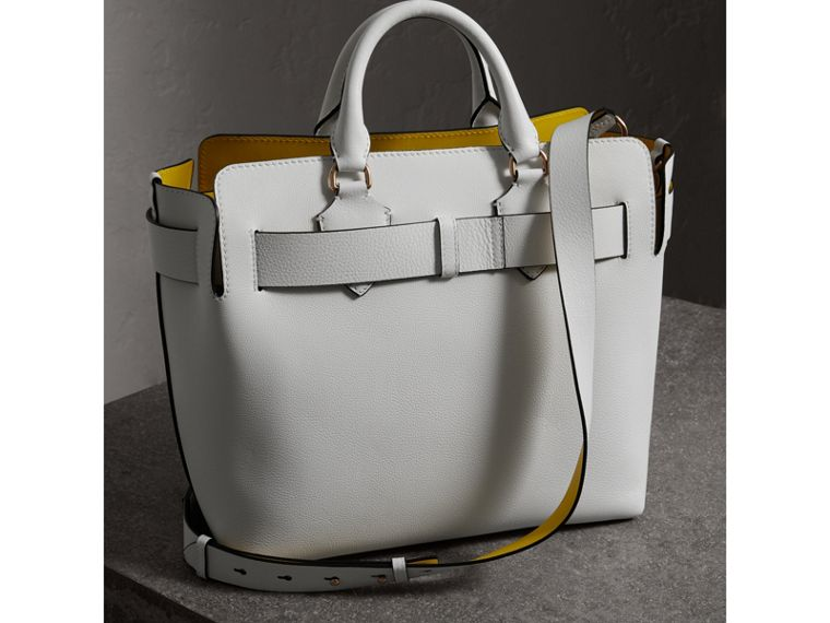 The Medium Leather Belt Bag in Chalk White - Women | Burberry - cell image 4