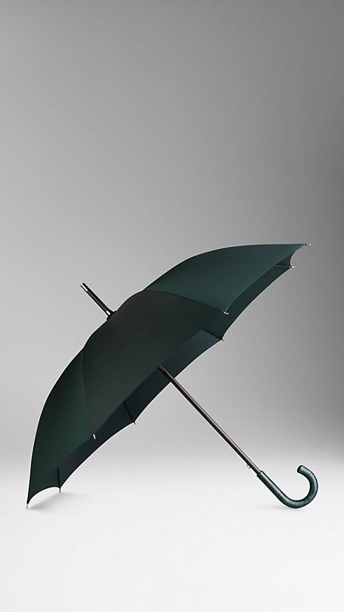 Dark racing green Alligator Handle Walking Umbrella Dark Racing Green - Image 1