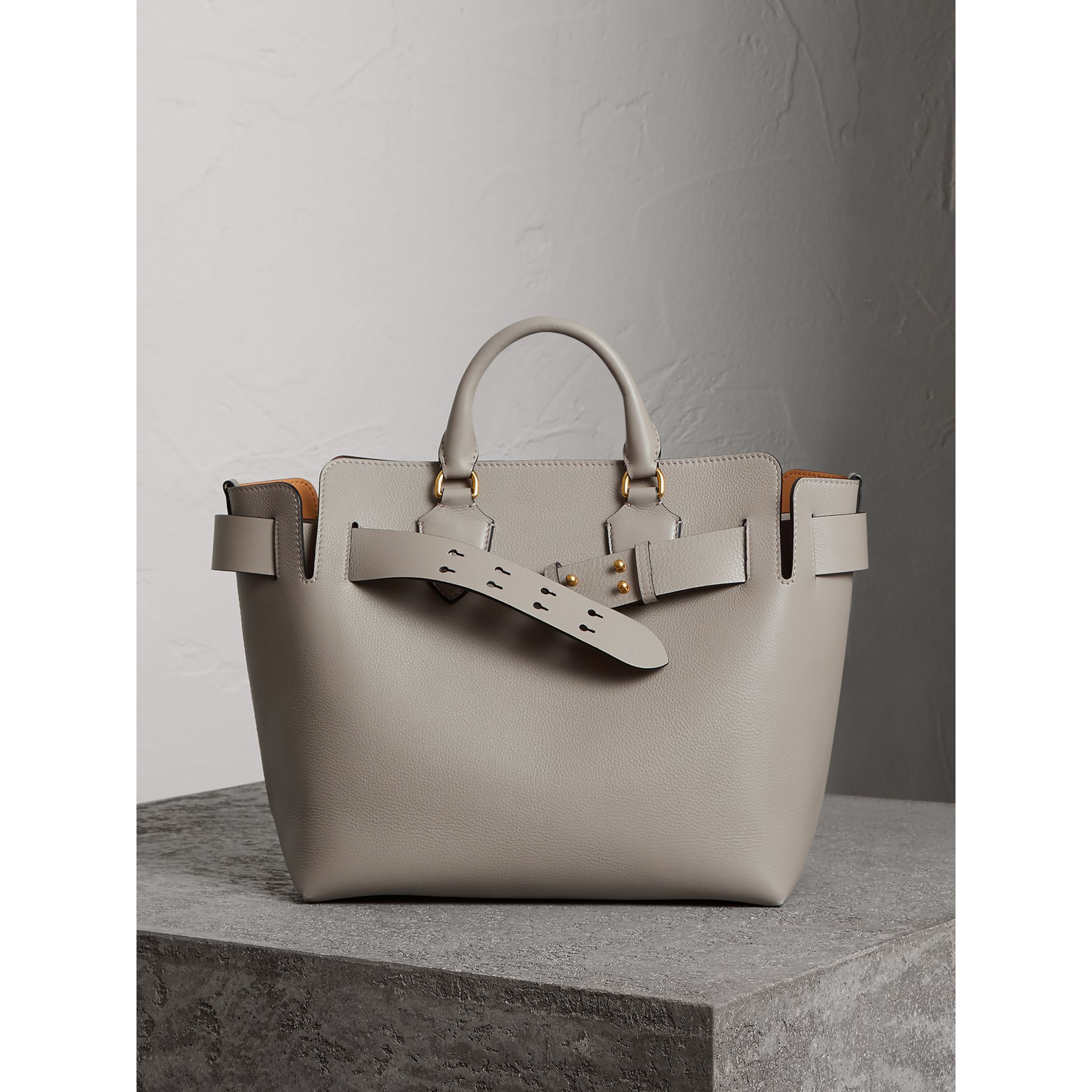 The Medium Leather Belt Bag in Mineral Grey - Women | Burberry - gallery image 7