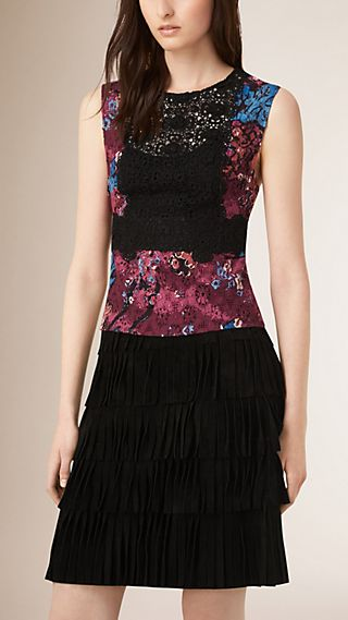 Floral Lace Print Top
