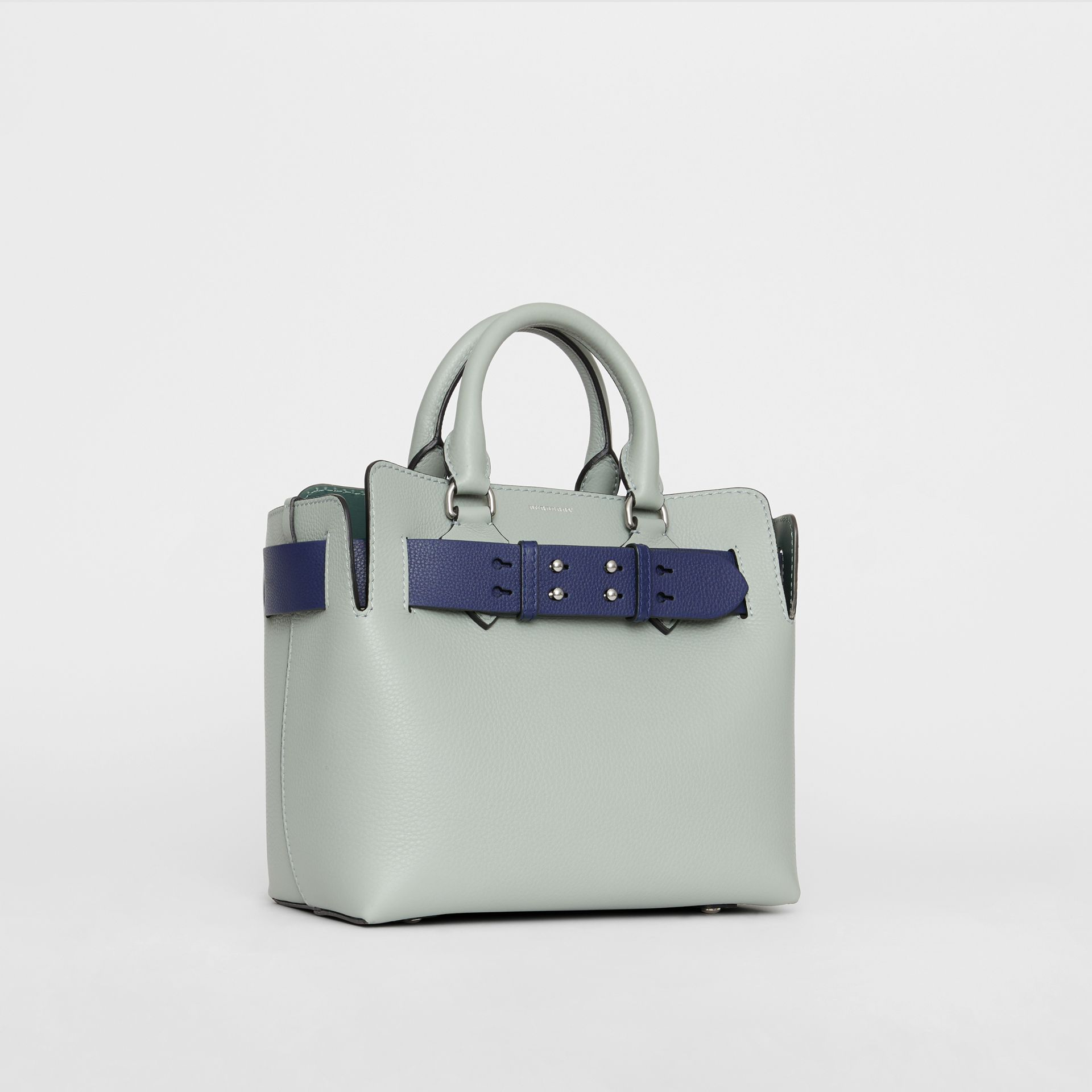 The Small Leather Belt Bag in Grey Blue - Women | Burberry - gallery image 6