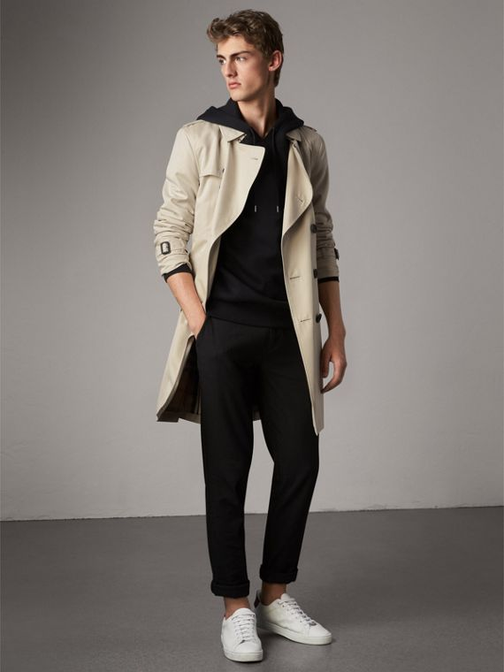 The Kensington – Trench Heritage long (Stone) - Homme | Burberry