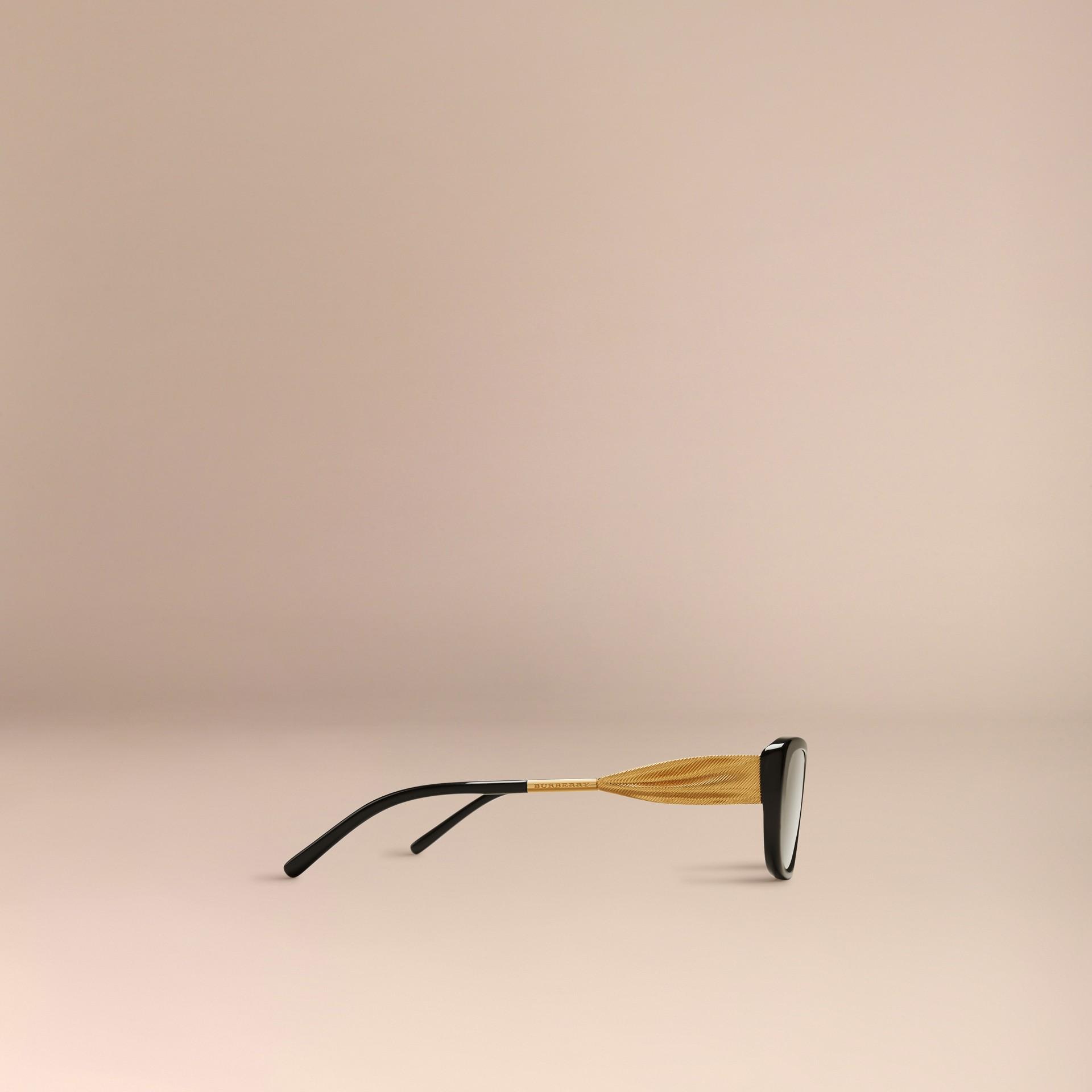 Black Gabardine Collection Oval Optical Frames Black - gallery image 4