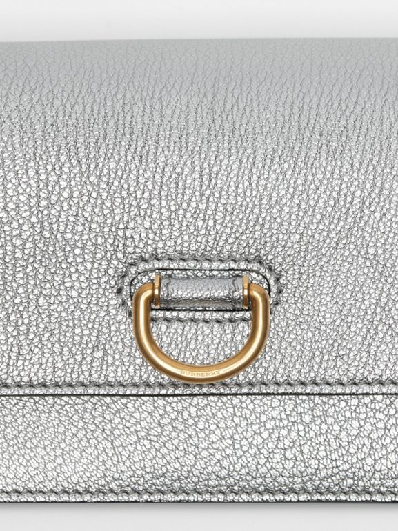 The Mini Leather D-ring Bag in Silver - Women | Burberry - cell image 1