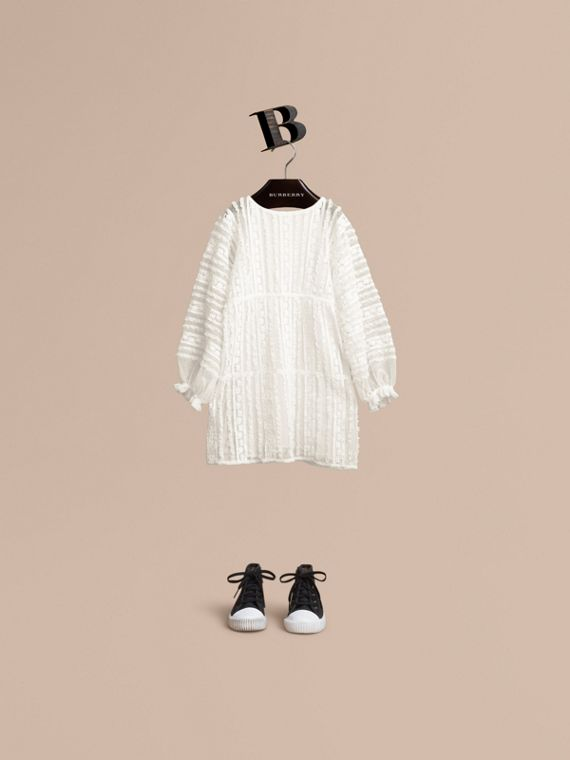 Lace Trim Cotton Dress | Burberry