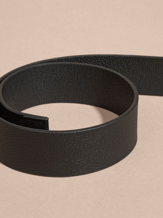 Black Grainy Leather Belt - cell image 2