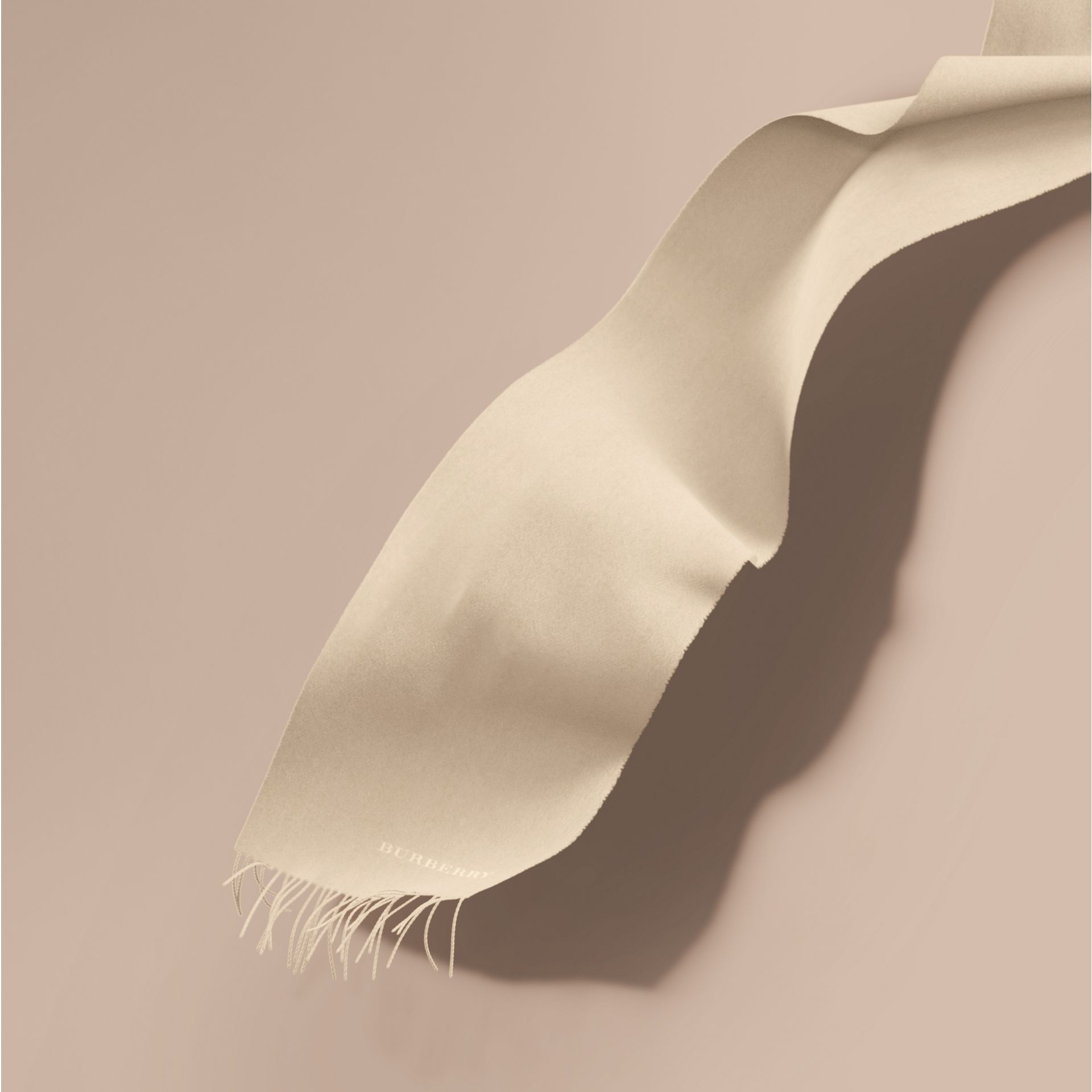The Classic Cashmere Scarf in Natural White | Burberry - gallery image 1