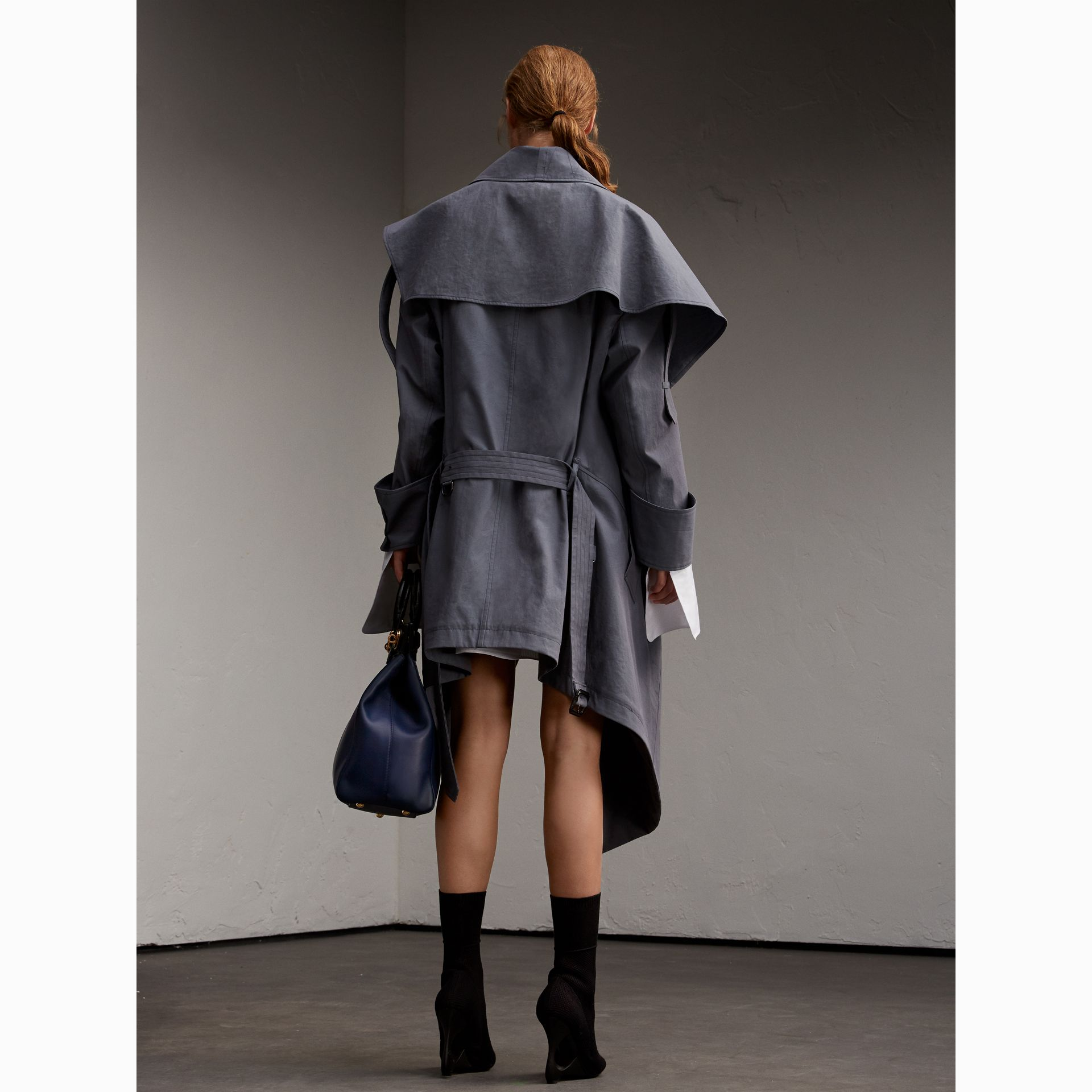 Tropical Gabardine Asymmetric Trench Coat - Women | Burberry - gallery image 3