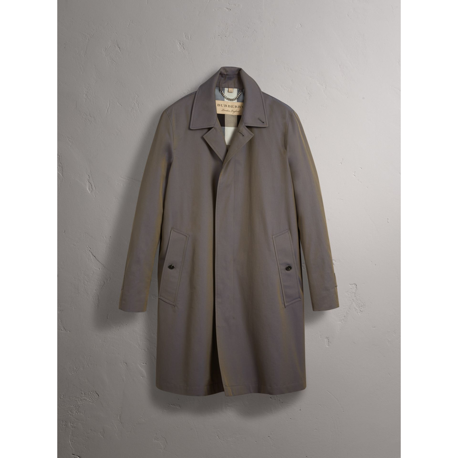 Tropical Gabardine Car Coat in Storm Blue - Men | Burberry - gallery image 4