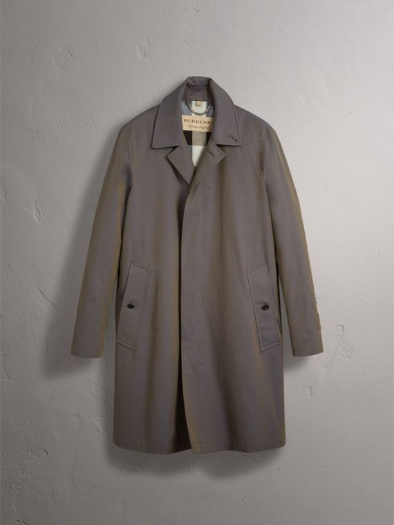 Tropical Gabardine Car Coat in Storm Blue - Men | Burberry Singapore - cell image 3