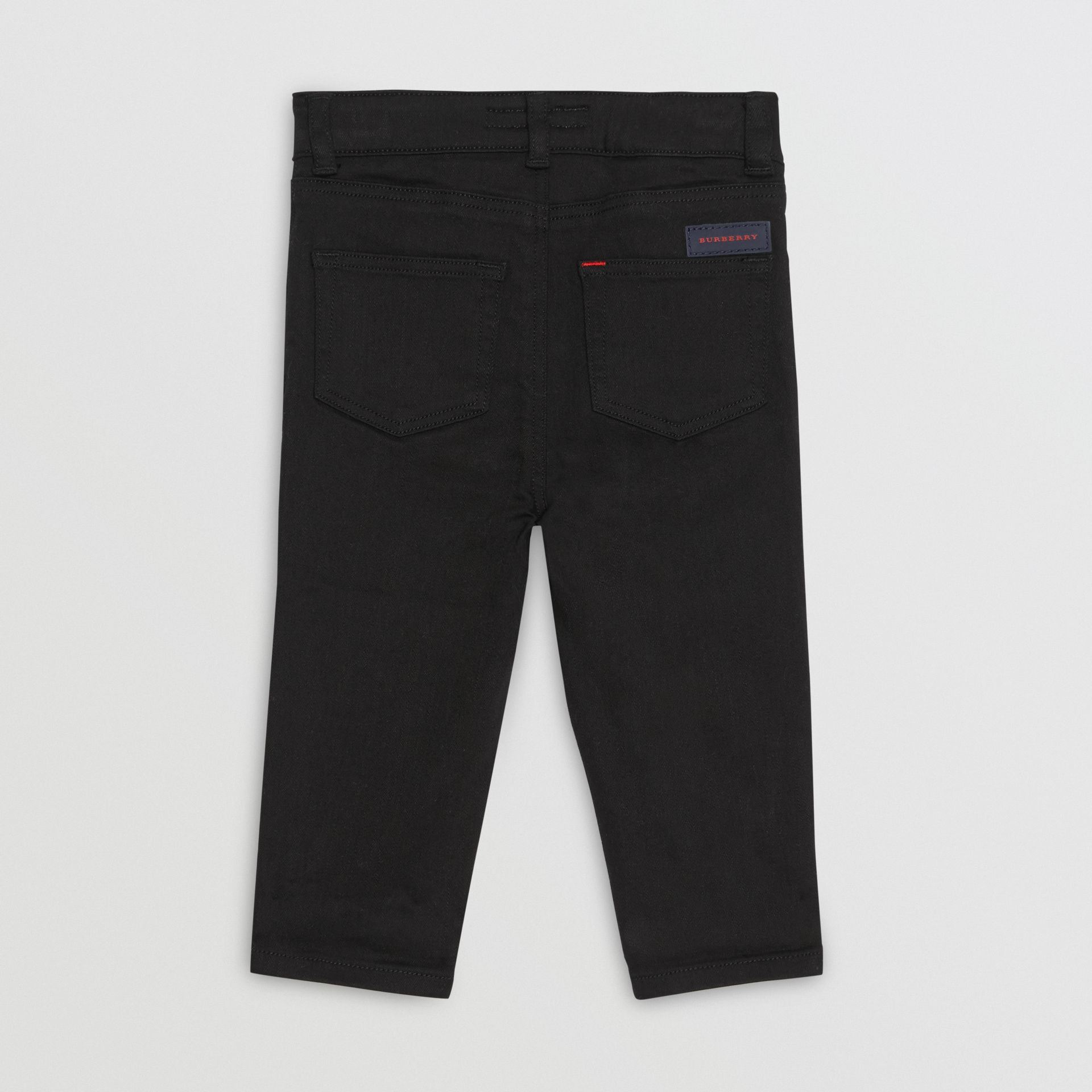 Skinny Fit Stretch Denim Jeans in Black - Children | Burberry United Kingdom - gallery image 3