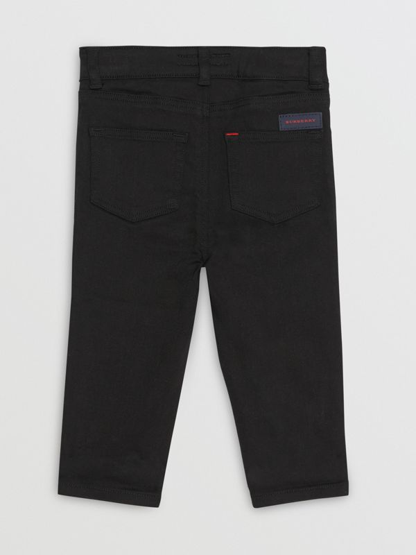 Skinny Fit Stretch Denim Jeans in Black - Children | Burberry Australia - cell image 3