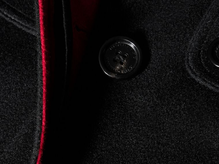 Nero Cappotto a mantella militare in cashmere - cell image 1
